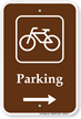 Parking Bike Bicycle Right Arrow Sign
