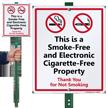 Smoke-Free And Electronic Cigarette-Free Property LawnBoss Sign Kit