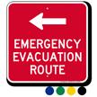Emergency Evacuation Route Left Arrow