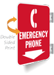 Emergency Phone Double Sided Metal Sign