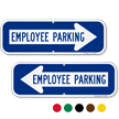 Employee Parking Right Arrow Directional Sign
