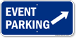 Event Parking Up Right Arrow Symbol Sign