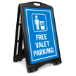 Free Valet Parking Sidewalk Sign