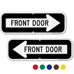Front Door Right Arrow Directional Sign