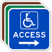 Access Right Arrow Directional Sign