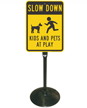 Kids And Pets At Play Sign Post Kit