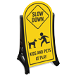 Kids Pets At Play Slow Down Sign Kit