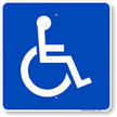 Large Handicapped symbol Sign