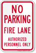 No Parking, Fire Lane Sign