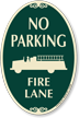 No Parking, Fire Lane Signature Sign