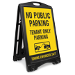 No Public Parking Tenant Parking Sidewalk Sign