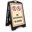No Skateboarding No Biking Sidewalk Sign Kit