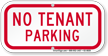 No Tenant Parking Supplemental Parking Sign