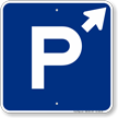 P Symbol Up Arrow Pointing Right Parking Sign