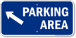 Parking Area Up Left Arrow Symbol Sign