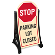 Parking Lot Closed Sidewalk Sign Kit