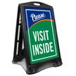 Please Visit Inside Portable A-Frame Sign Kit