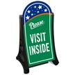 Please Visit Inside Portable Sidewalk Sign Kit
