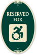 Reserved For with Updated Accessible Symbol Sign