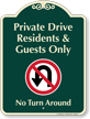 Residents And Guests Parking Only Signature Sign