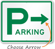 Directional Parking Sign (arrow pointing right)