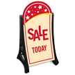 Sale Today A-Frame Portable Sidewalk Sign Kit