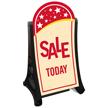 Sale Today A-Frame Portable Sidewalk Sign Kit