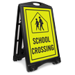 School Xing Sidewalk Sign Kit