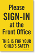 Sign In At Front Office Sign Panel