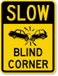 Slow Car Crash Proceed With Caution Sign