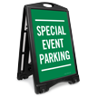 Special Event Parking Sidewalk Sign