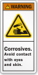 Corrosives Avoid Contact With Eyes & Skin Label