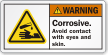 Corrosive Avoid Contact With Eyes Or Skin Label