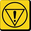 Emergency Stop Symbol Label