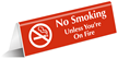No Smoking Office Tabletop Tent Sign