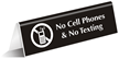 No Cell Phones & No Texting Engraved Sign