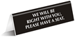 Please Have Seat Office Tabletop Tent Sign
