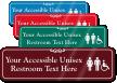 Accessible Unisex Restroom Symbol Sign