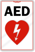 AED with Graphic Sign