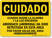 Spanish Ammonia In Area, Please Exit Sign