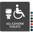 All-Gender Toilets TactileTouch Handicap Sign with Braille
