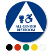 All-Gender Restroom Sign, Toilet, Updated ISA Symbol
