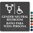 Handicap And Gender Neutral Restroom Braille Sign