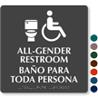 All Gender Restroom ISA And Toilet Symbol Sign
