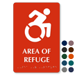 Area Of Refuge Braille Sign, Updated Accessible Pictogram