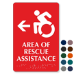 Area Of Rescue Assistance ISA Symbol Left Arrow Sign