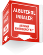 Asthma Emergency Kit Projecting Sign
