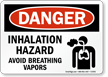 Danger Inhalation Hazard Breathing Vapors Sign