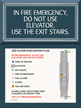 Do Not Use Elevator Sign