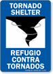Bilingual Tornado Shelter Refugio Contra Tornados Sign